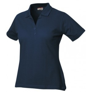Sieviešu polo krekls (tumši zils, balts)