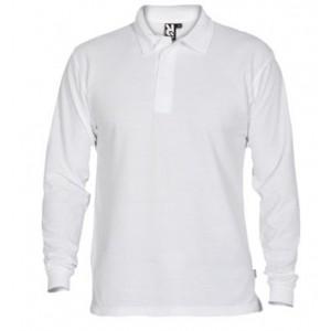 Polo krekls ar garām  piedurknēm (balts)